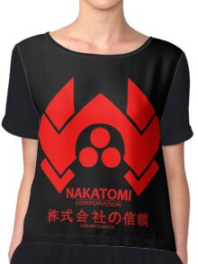 NAKATOMI PLAZA - DIE HARD BRUCE WILLIS (RED) Chiffon Top