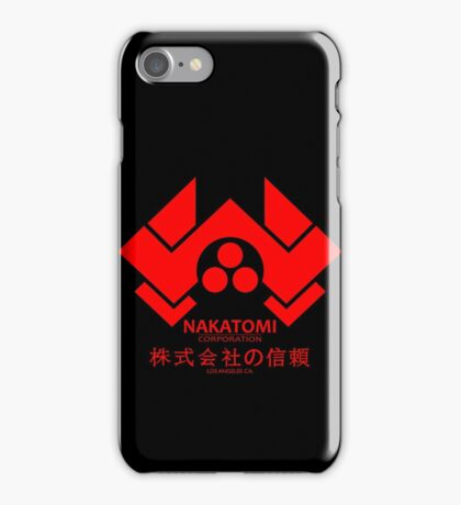 NAKATOMI PLAZA - DIE HARD BRUCE WILLIS (RED) iPhone Case/Skin