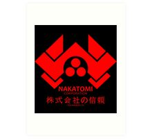 NAKATOMI PLAZA - DIE HARD BRUCE WILLIS (RED) Art Print