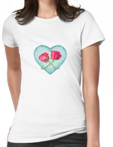 Love Ornate Motif Print Womens Fitted T-Shirt