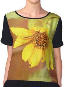 Dreaming Sunflower Chiffon Top