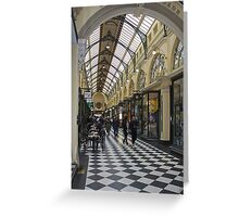 Royal Arcade -  Melbourne, Vic.  Australia.  Greeting Card