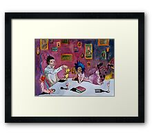 Tyki and Road Framed Print