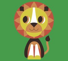 Retro Animals Lion Kids Tee
