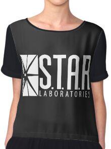 S.T.A.R Laboratories   White [HD] Chiffon Top