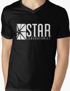 S.T.A.R Laboratories | White [HD] Mens V-Neck T-Shirt