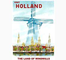 """HOLLAND"" Windmill Travel Advertising Print Unisex T-Shirt"