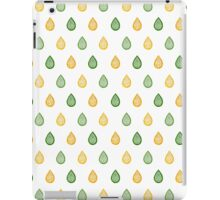 Green and yellow raindrops iPad Case/Skin