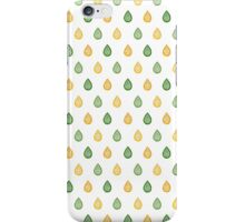 Green and yellow raindrops iPhone Case/Skin