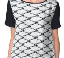 Metal grid Chiffon Top