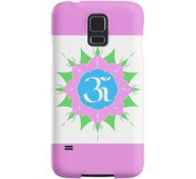 OM symbol on pink flower Samsung Galaxy Case/Skin