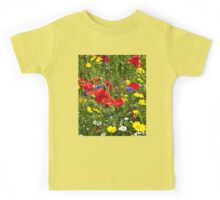 Colourful Wild Flowers Kids Tee