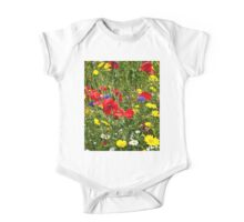Colourful Wild Flowers One Piece - Short Sleeve