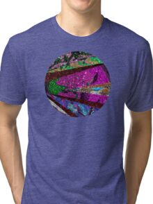 Peacock Mermaid Lavender Abstract Geometric Tri-blend T-Shirt