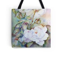 Snow White Roses Tote Bag