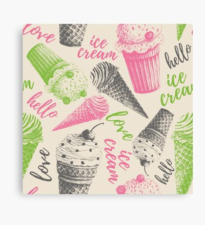 love Ice cream Canvas Print