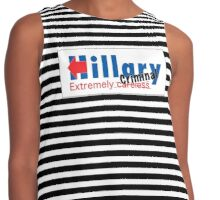 Hillary Extremely Careless Criminal Contrast Tank