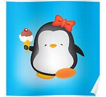 Ice cream penguin Poster