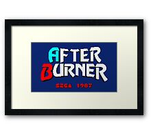AFTER BURNER SEGA ARCADE Framed Print