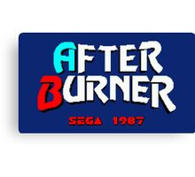 AFTER BURNER SEGA ARCADE Canvas Print