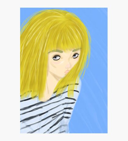 Blonde Girl Photographic Print