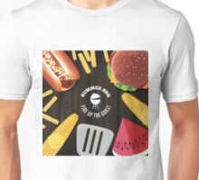 Summer BBQ fun food design Unisex T-Shirt