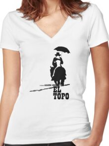 El Topo - metaphysical western by Jodorowsky  (The Mole) Women's Fitted V-Neck T-Shirt