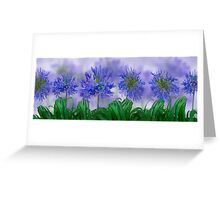 Floral home decoration. Agapanthus 5 Greeting Card