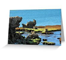 Coastal Formations Greeting Card