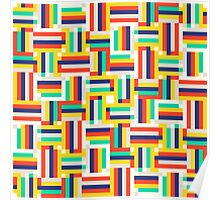 Digital colorful pattern Poster