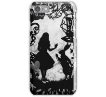 Alice Paper Cutout Mono iPhone Case/Skin