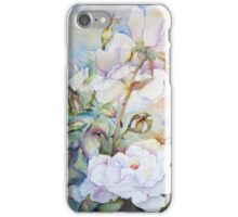 Snow White Roses iPhone Case/Skin