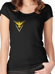Pokemon Go Team Yellow Women's Fitted Scoop T-Shirt
