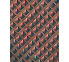 Pattern 027 Honeycomb Pink Salmon Blue Photographic Print