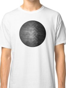 Grayscale triangle geometric squares Classic T-Shirt