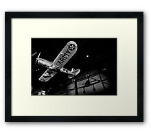Airplane shadow play Photo 1  Framed Print