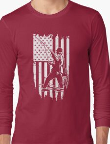 Fish- Usa Fishing T Shirt Long Sleeve T-Shirt