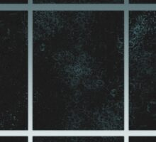 Pattern 028 Window Panes Black And Blue Sticker