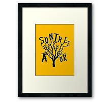 SUN TREE A-OK (Critical Role Fan Design)  Framed Print