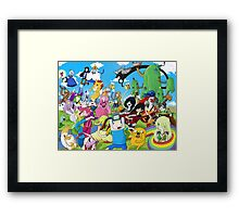 Adventure Time Full Crew Framed Print