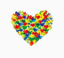 Colorful watercolor heart shapes Unisex T-Shirt