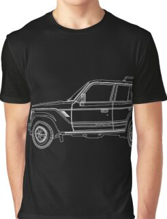 Toyota Land Cruiser FJ61 Outline Graphic T-Shirt