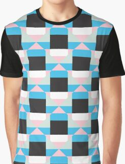 Geometric color blocked pattern Graphic T-Shirt