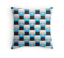 Geometric color blocked pattern Throw Pillow