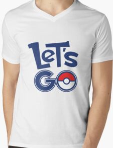 Pokemon GO - Let's Go - Pokémon GO Fans - Pokemon Mens V-Neck T-Shirt