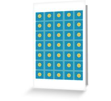 Pattern 029 Simple Blue Squares And yellow Dots Greeting Card