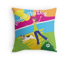 Blotch the Dog Throw Pillow