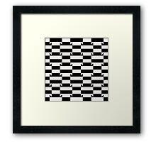 Abstract op art pattern Framed Print