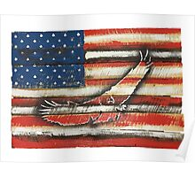 United States Flag with Eagle 'Merica America Poster