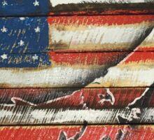 United States Flag with Eagle 'Merica America Sticker